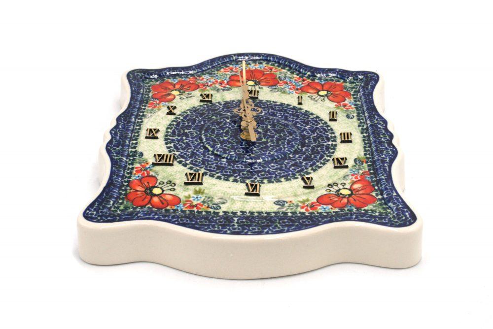 boleslawiec zegar maki ceramika boleslawiec 2