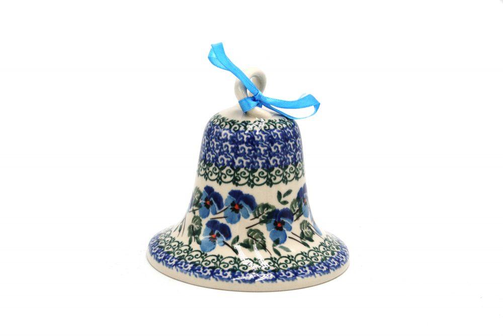 boleslawiec dzwonek drobne bratki ceramika boleslawiec