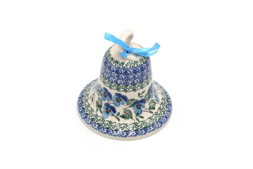 boleslawiec dzwonek drobne bratki ceramika boleslawiec 2